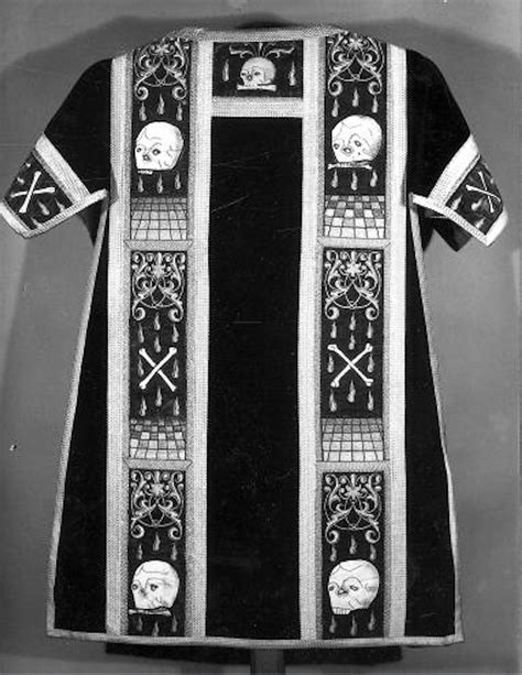 Some Unique Black Vestments for All Souls Day ~ Liturgical