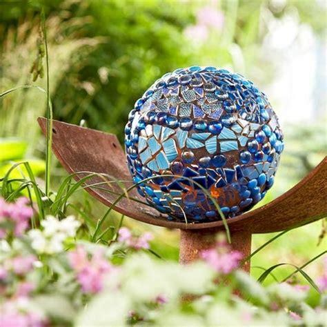 diy summer garden decoration ideas  bowling balls