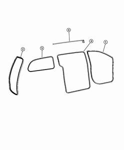 Dodge Grand Caravan Weatherstrip  Rear Door Opening  Used For  Right And Left   Med Slate Gray