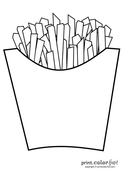 Coloring Templates For by Fries Print Color Free Printables