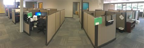 cubicle workstations installation workplace consolidation