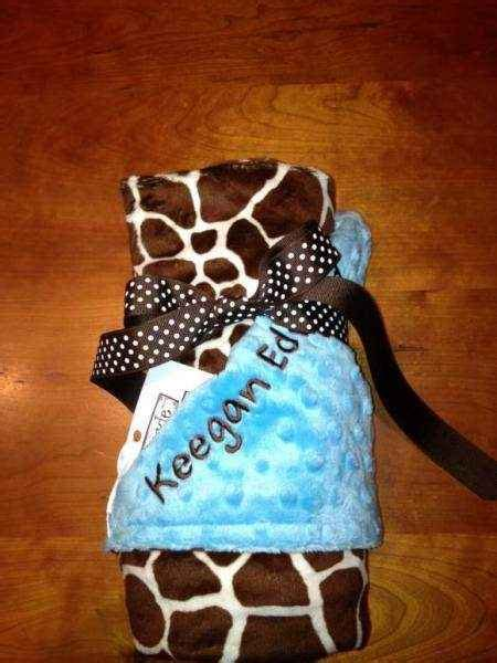 giraffe minky baby blanket lemonade couture
