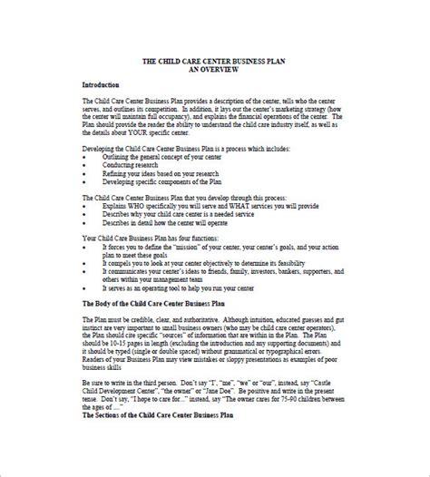 the management center program plan template business plan for child care center templates resume