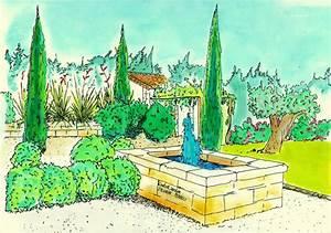 Jardin Dessin Couleur : dessin de jardin 6 ~ Melissatoandfro.com Idées de Décoration