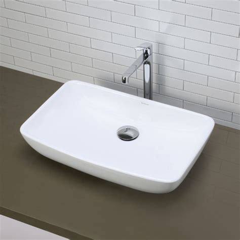 decolav 1445 cwh ceramic white bathroom sink build com