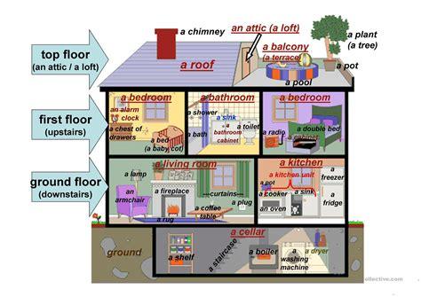 detached house description worksheet  esl