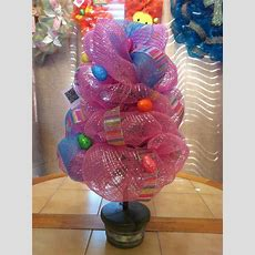 Easter Deco Mesh Topiary By Moniqueswreaths On Etsy, $35