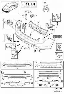 31364007 - Moulding  Body  Rear  Bumper
