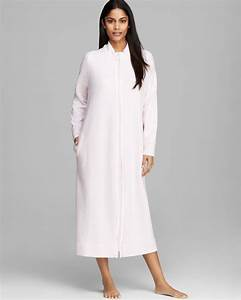 carole hochman ch essentials long zip robe in white lyst With robe carole