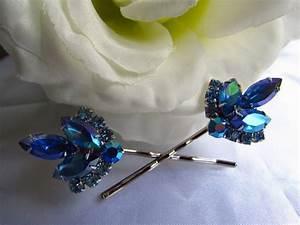 Sapphire Blue Bridal Hair CombBlue Bridal Hair