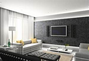 latest wall design for living room download 3d house With grey living room interior design