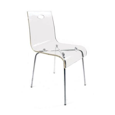 chaise en plexi chaise design en plexiglas transparent achat