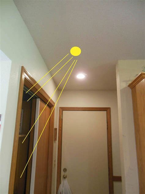 add ceiling light to illuminate into pantry   track