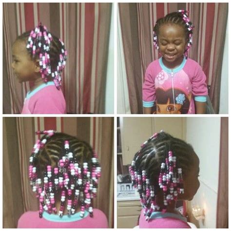 2 year old braids and beads little girl hairstyle
