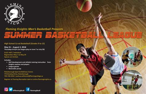 The first season of competition was in the fall of 2010. Community - High School Summer Basketball League   Fleming ...