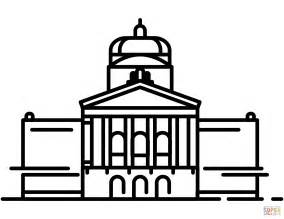 Federal Palace In Bern Coloring Page Free Printable