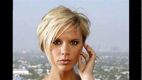 Victoria Beckham Short Blonde Haircut