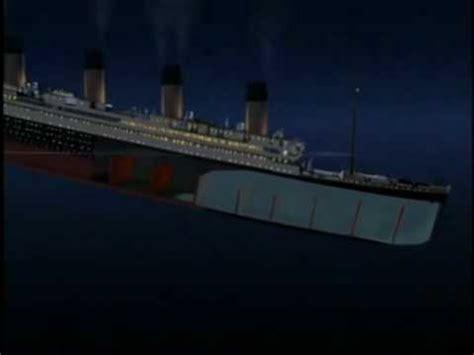 Lego Ship Sinking Titanic by Titanic Sinking Reverse Youtube