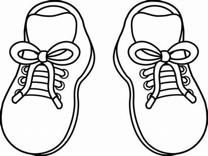 Coloring Running Shoe Shoes Clip
