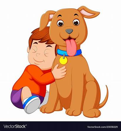 Boy Clipart Puppy Dog Hugging His Clipground