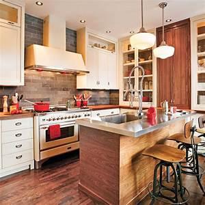 Davausnet cuisine blanche rustique chic avec des for Idee deco cuisine avec meuble en pin