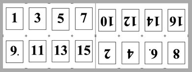 imposition sample layouts