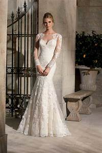 long sleeve wedding dress 2015 vestido de noiva white With see through lace back wedding dress