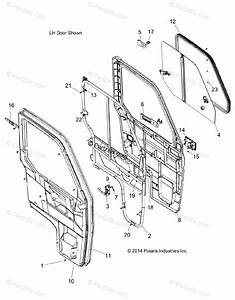 Polaris Side By Side 2015 Oem Parts Diagram For Body  Doors A2