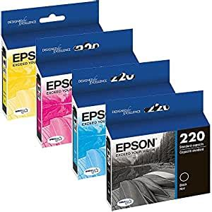 Amazon.com: Genuine OEM Set Ultra Ink Cartridge Epson 220