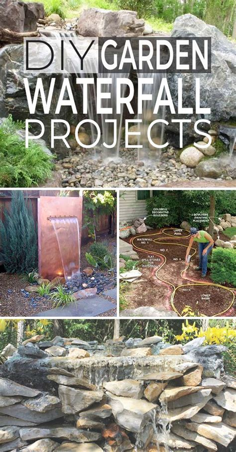Diy Garden Decoration Projects by Diy Garden Waterfall Projects The Garden Glove