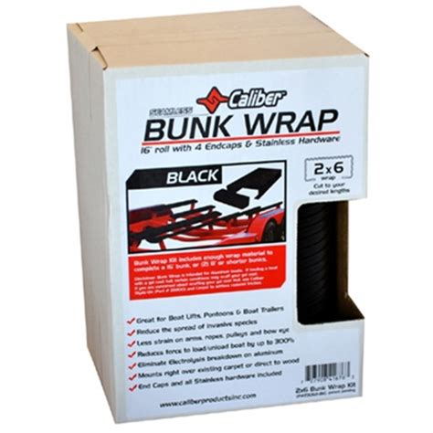 Boat Bunk Wax by Caliber Bunk Wrap Black 16 X 2 Quot X 6 Quot With End Caps