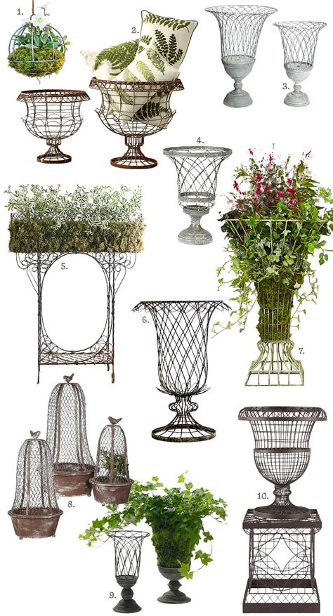 french inspired outdoor wire planters making  lovely