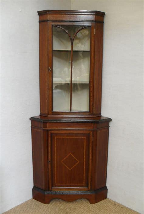 antique corner cabinet for corner display cabinet 238608 sellingantiques co uk