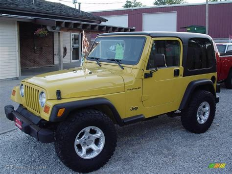 yellow jeep interior 2000 solar yellow jeep wrangler se 4x4 15811362 photo 2