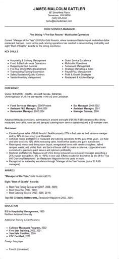Restaurant Manager Resume Template by Click Here To This Restaurant Manager Resume