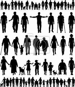 Hand In Hand Gehen : editierbare vektor silhouetten von menschen hand in hand gehen wandposter poster freiwillig ~ Markanthonyermac.com Haus und Dekorationen