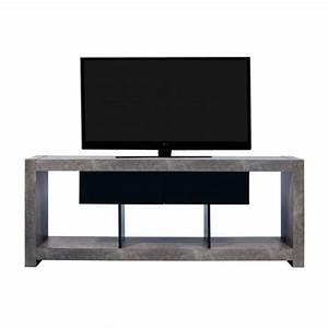 Meuble Tv Beton : meuble tv design nara effet gris b ton ~ Teatrodelosmanantiales.com Idées de Décoration
