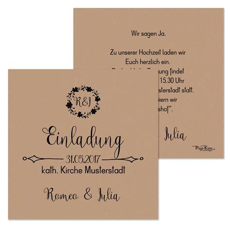 quadratische einladungen hochzeit vintage style romeo