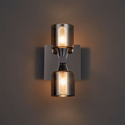 cobark smoked effect bathroom wall light departments