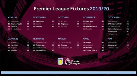 Villa Premier League fixtures Aston Villa Football Club in ...