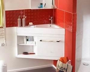 Lavabo D Angle Salle De Bain : plan vasque meuble d 39 angle petite salle de bain castorama salle de bain bathroom mirror ~ Nature-et-papiers.com Idées de Décoration