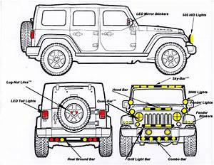 jeep wrangler drawing at getdrawingscom free for With jeep jk lights