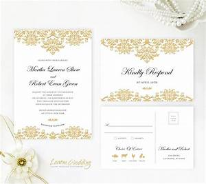 150 best images about wedding invitations on pinterest With gold damask printable wedding invitations kit