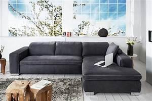 Ecksofa Tiefe Sitzfläche : design ecksofa lakewood grau mit r ckenkissen original candy lifestyle riess ~ Sanjose-hotels-ca.com Haus und Dekorationen