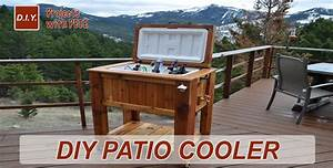 How to Make a Patio Cooler Ice Chest - YouTube