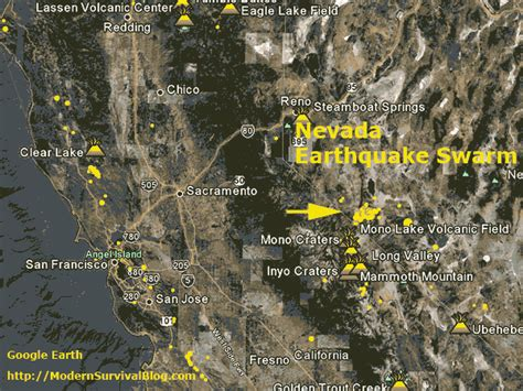nevada earthquake swarm precursor