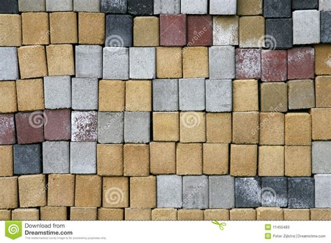 different brick colors cement bricks in different colors stock photos image 11455483