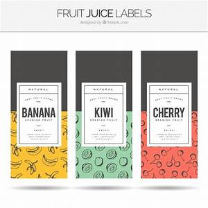 Assortment of three fruit juice labels Vector | Free Download