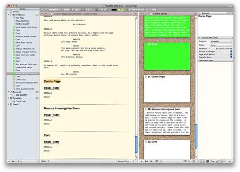 Comic Page Script Template by Antony Johnston Scrivening Comics