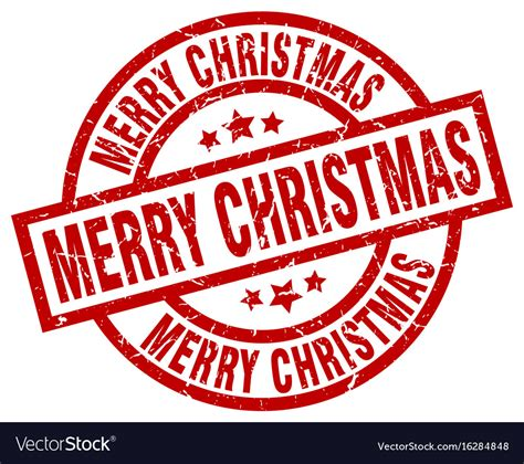 merry christmas round grunge st royalty free vector